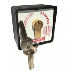 Contacteur à clé pour ouverture de portail automatique Marque Proteco, Italy