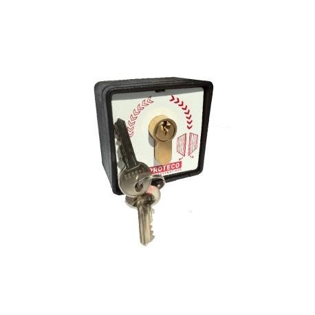 Contacteur à clé pour ouverture de portail automatique