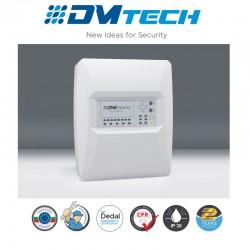 Centrale d'alarme de détection incendie 4 Zones 32 détecteurs par zone conventionnel , Marque Dmtech Certifié EN54-2/4