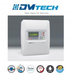 Centrale d'alarme de détection incendie 4 Zones avec afficheur LCD conventionnel , Marque Dmtech Certifié EN54-2/4
