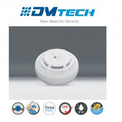 Détecteur combiné (optique-fumée et thermique) Conventionnel Avec Verrouillage Lock Certifié EN54-5/7 ,Marque Dmtech